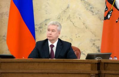 Собянин рассказал о строительстве на заседании