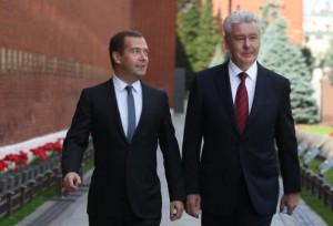 Медведев и Собянин провели церемонию открытия памятника Маршалу Рокоссовском