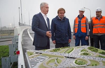 Сергей Собянин открыл эстакаду на пересечении Рязанского проспекта и МКАД