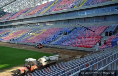 Строительные работы на стадионе ЦСКА в Москве
