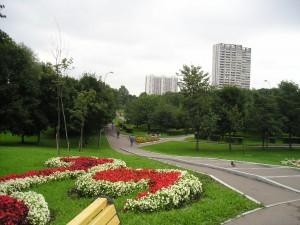 Вид на парк 30-летия Победы со стороны Чертановской улицы