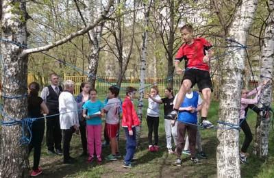 В конце апреля в районе школы №879 прошло муниципальное мероприятие «Зарница»