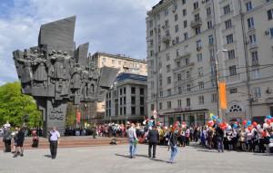 Памятник ополченцам Пролетарского района, установленный в Южном округе