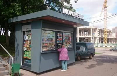 Новый киоск на улице Чертановская