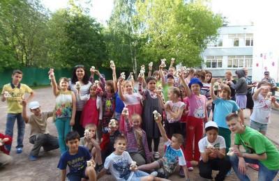 Празднование Дня защиты детей в районе Чертаново Центральное в прошлом году