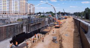 Строительство эстакады на пересечении Липецкой и Элеваторной улиц