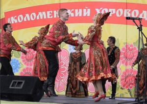 На фольклорном фестивале «Коломенский хоровод» в музее-заповеднике «Коломенское»