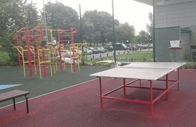 Площадка для игры в настольный теннис в районе Чертаново Центральное