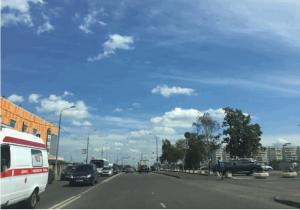 Дорожный знак на улице Красного Маяка до ремонта