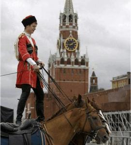 Всадник Кремлевской школы верховой езды