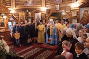 На освящении основания храма в честь Живоначальной Троицы