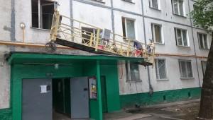 Проведение ремонтных работ на улице Чертановская