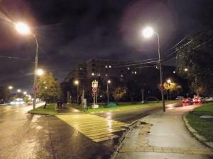 Восстановленное освещение на Чертановской улице