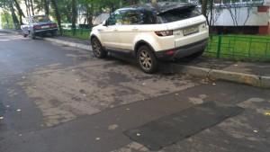 Отремонтированный асфальт на Днепропетровской улице