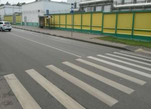 Новая дорожная разметка на Днепропетровской улице