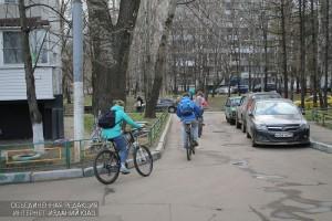 Велосипедисты в ЮАО