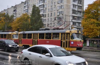 Трамвай в районе Чертаново Центральное