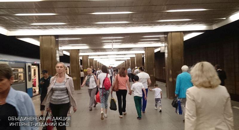 Один изэскалаторов настанции метро «Пражская» закрыли наремонт