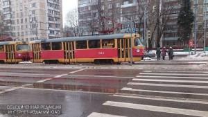 Пешеходный переход на улице Чертановская