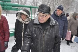 Ветеран Великой Отечественной войны Леонид Моисеевич Некрасовский  на торжественном митинге
