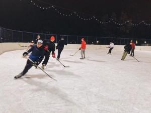 "Хоккейный матч ""Молодой Гвардии"""