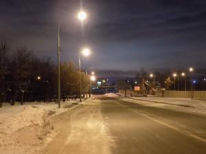Восстановленное уличное освещение в районе