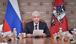 Мэр Москвы Сергей Собянин на заседании президиума правительства города