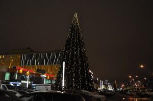 Новогодняя елка в районе