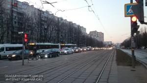 Светофор на улице Чертановская