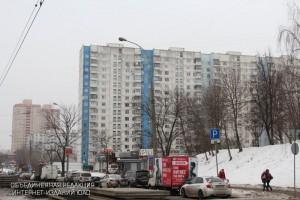 Дома вдоль Чертановской улицы