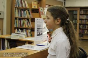 Юная жительница района в библиотеке №143