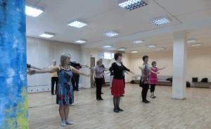 Жители района Чертаново Центральное на мастер-классе по бальным танцам