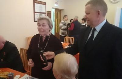 Ветеран войны Екатерины Цветковой на мероприятии, посвященном 25-летию районного Совета ветеранов