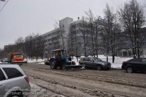 Уборка снега на территории района