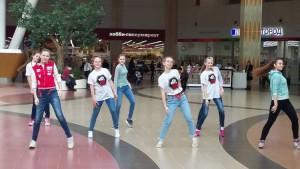 Танцевальный флешмоб в районе