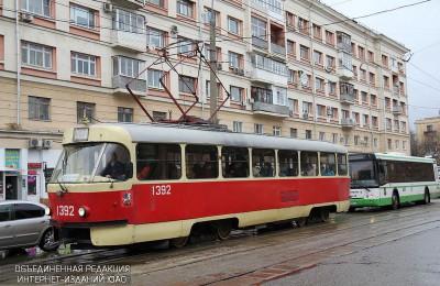 Трамвай №1 заменили временным автобусным маршрутом