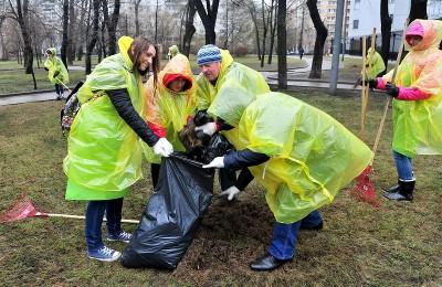 Общегородские субботники пройдут на 75 площадках в парках Москвы