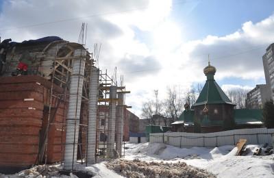 Строительство храма в районе