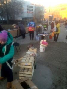 """В ходе рейда """"Безопасной столицы"""" активисты остановили нелегальную торговлю у метро """"Пражская"""""""