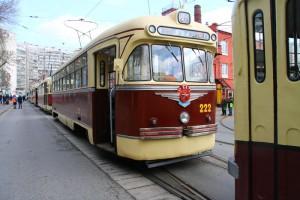 Парад трамваев прошел в столице