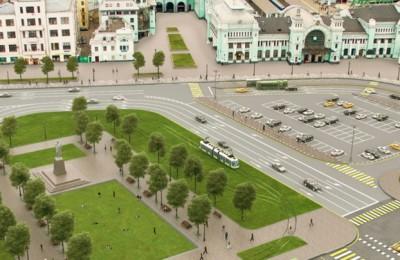 Трамвайное движение на площади Тверская Застава будет запущено осенью