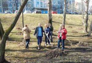 Жители района вышли на второй весенний субботник
