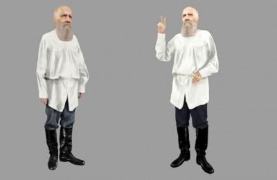 В приложении «Узнай Москву Фото» появился 3D-двойник Льва Толстого