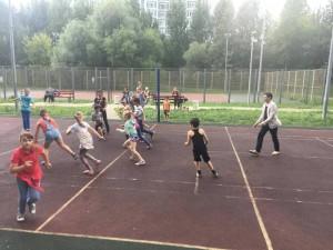 Спортивную игру провели для жителей района