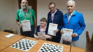 Победители и призеры окружных соревнований по игре в шашки