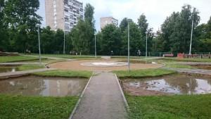 Работы по благоустройству парка идут полным ходом