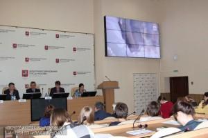 Пресс-конференция в Департаменте образования Пресс-конференция в Департаменте образования