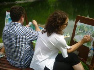 Участники мастер-класса у Чертановских прудов