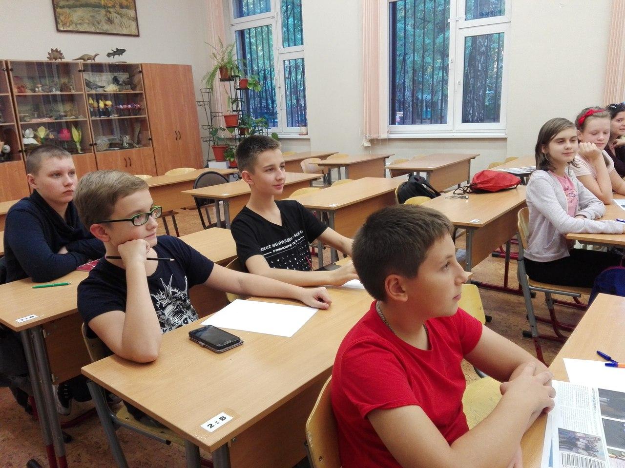 В школе №880 прошло первое занятие клуба журналистики