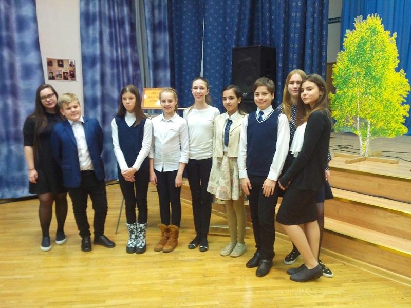 Учащиеся школы №880 выступили на межрайонном поэтическом конкурсе